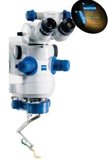 Imagen: El microscopio OPMI LUMERA 700 para cirugía de cataratas y de retina (Fotografía cortesía de Carl Zeiss Meditec).