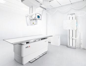 Imagen: La suite digital automática para rayos X, DX-D 600 (Fotografía cortesía de Agfa HealthCare).