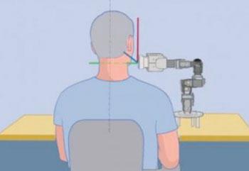 Imagen A: Gráfico de la forma como se realiza una ecografía transoceánica asistida por robot (Fotografía cortesía del Monte Sinaí).