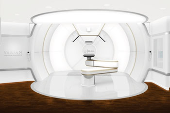 Imagen: La planta de tratamiento del sistema ProBeam (Fotografía cortesía de Varian Medical Systems).