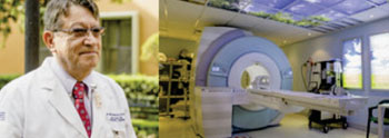 Imagen: El Dr. Jorge Fernández de la Torre y la resonancia magnética en San José Tec (Fotografía cortesía de Siemens Healthcare).