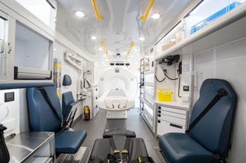 Image: El interior de la unidad MSU con un equipo de TC (Fotografía cortesía de la Facultad de Medicina de la UT).