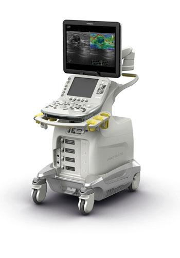 Imagen: El ARIETTA V70 con funciones mejoradas de elastografía (Fotografía cortesía de Hitachi Medical Systems).